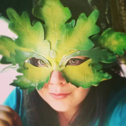 Another Greenman Leather Mask by MoonBeara