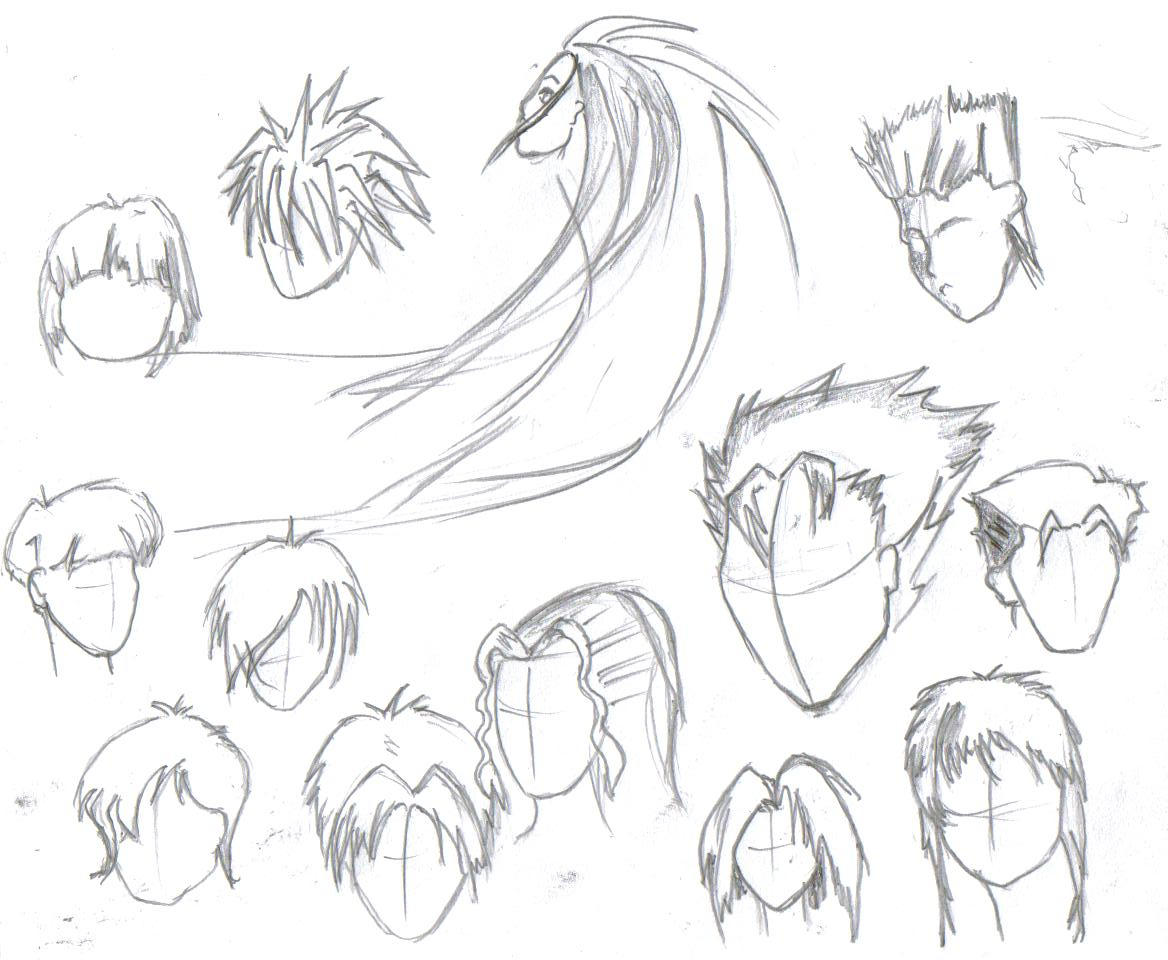 Anime Hairstyles By Rteesworld On Deviantart
