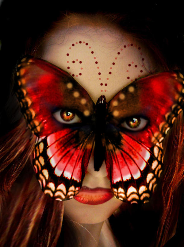 Red butterfly mask by thornerose on deviantart