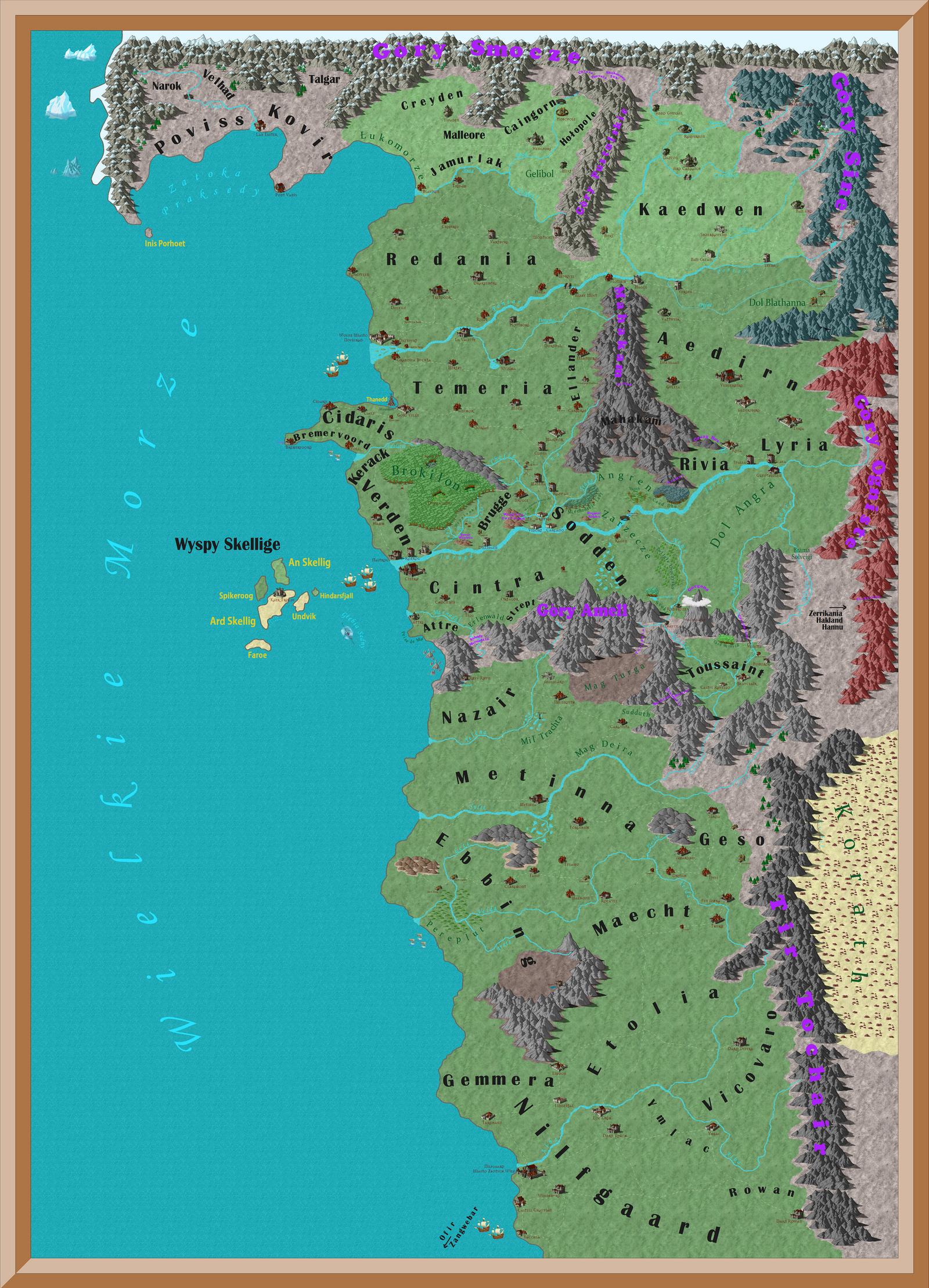 The Witcher 3 Wild Hunt Ortelius map by Torpeda by adamus11 on DeviantArt