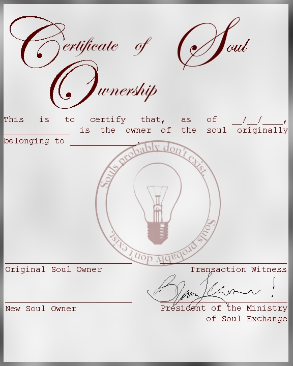 Certificate of Soul Ownership by Ankh-Infinitus on DeviantArt