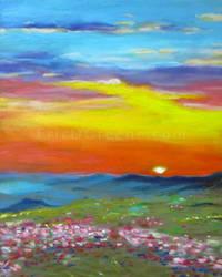 Mountain sunset by ericdgreene