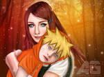 naruto and kushina fan art by Elgohary-Artisto