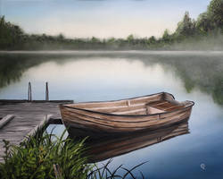 Serene Old Boat by justanothercreator