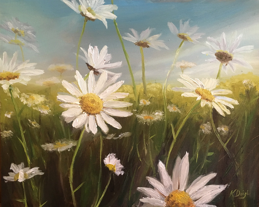 Daisies Basking in the Sun by justanothercreator