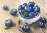 Blueberries, Watercolour  by justanothercreator