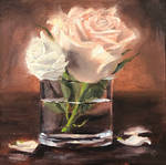 2 Roses in a Glass
