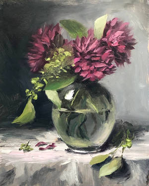 Poms in a vase by justanothercreator