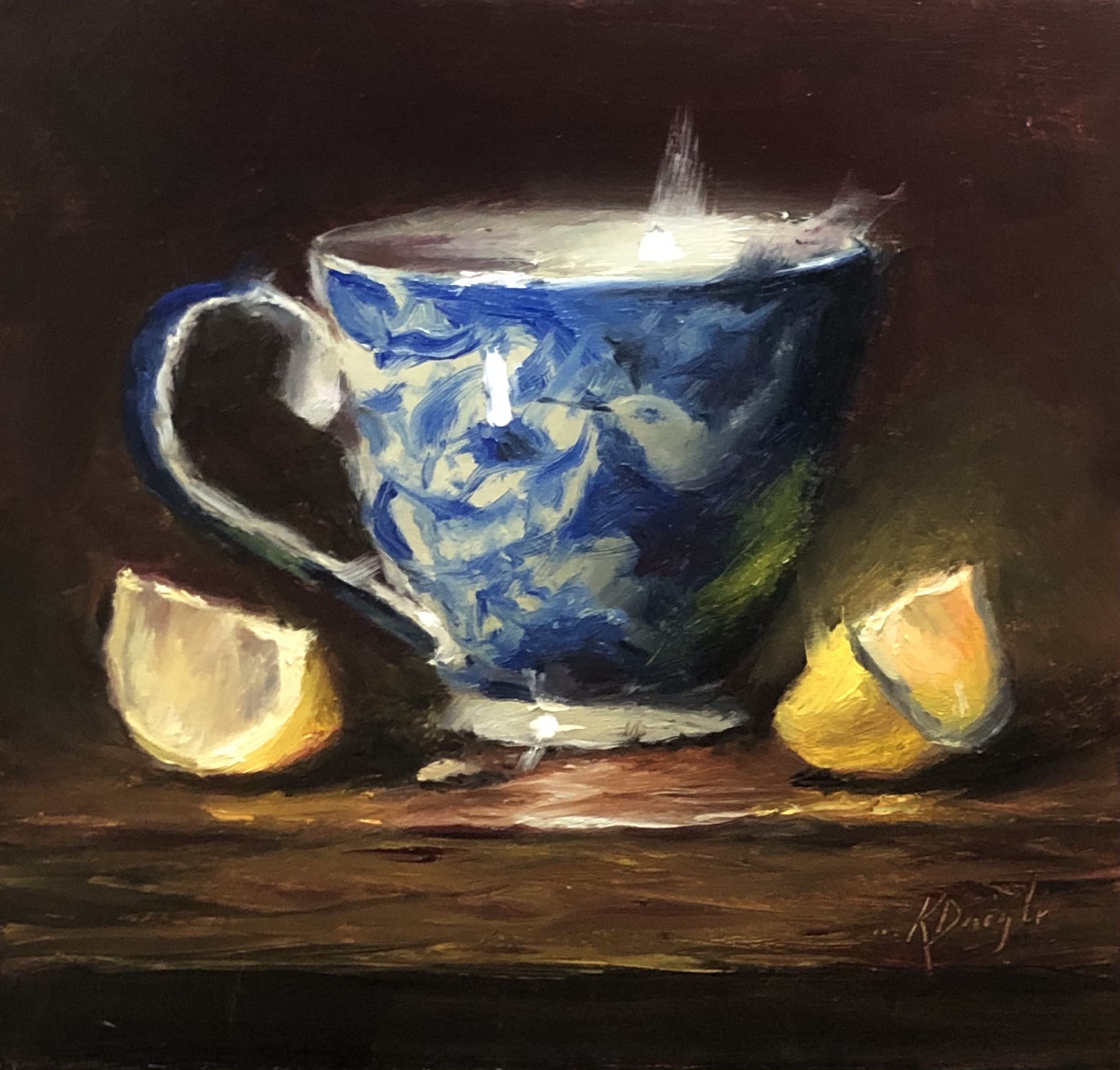 Hummingbird Tea with Lemons