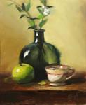 Green apple and tea