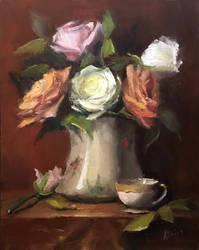 Roses in porcelain