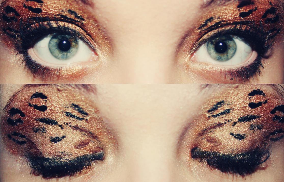leopard print makeup by darkcsibi on deviantart. Black Bedroom Furniture Sets. Home Design Ideas