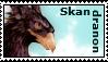 Skandradon Stamp by HarlequinRaven