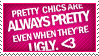 Stamp: Pretty Chics by angelaacevedo