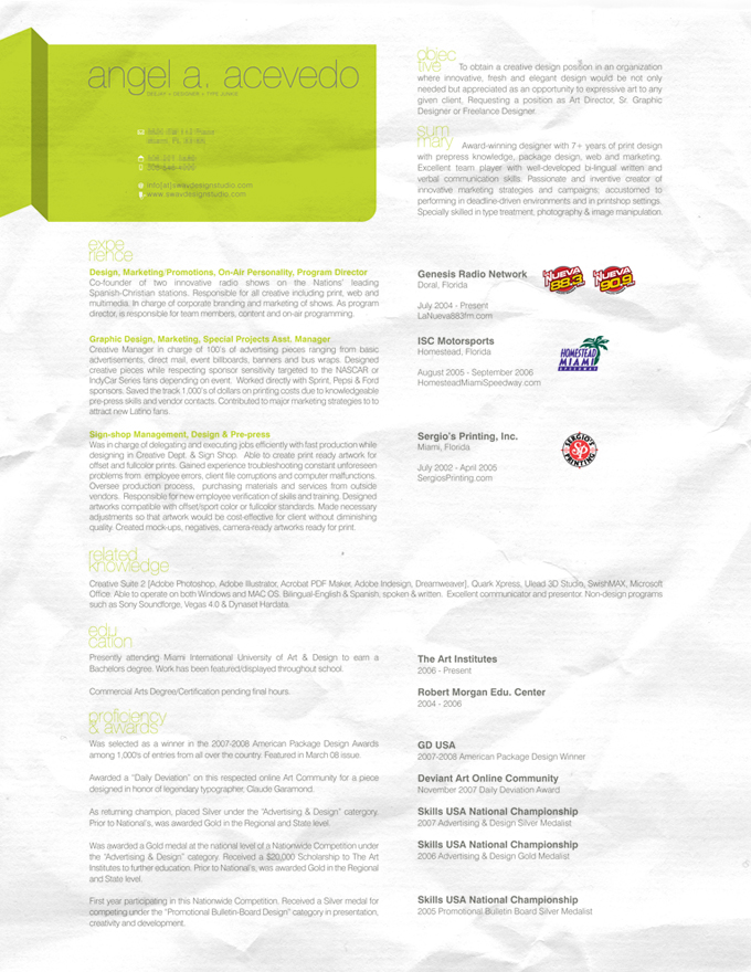Resume 2008 by angelaacevedo