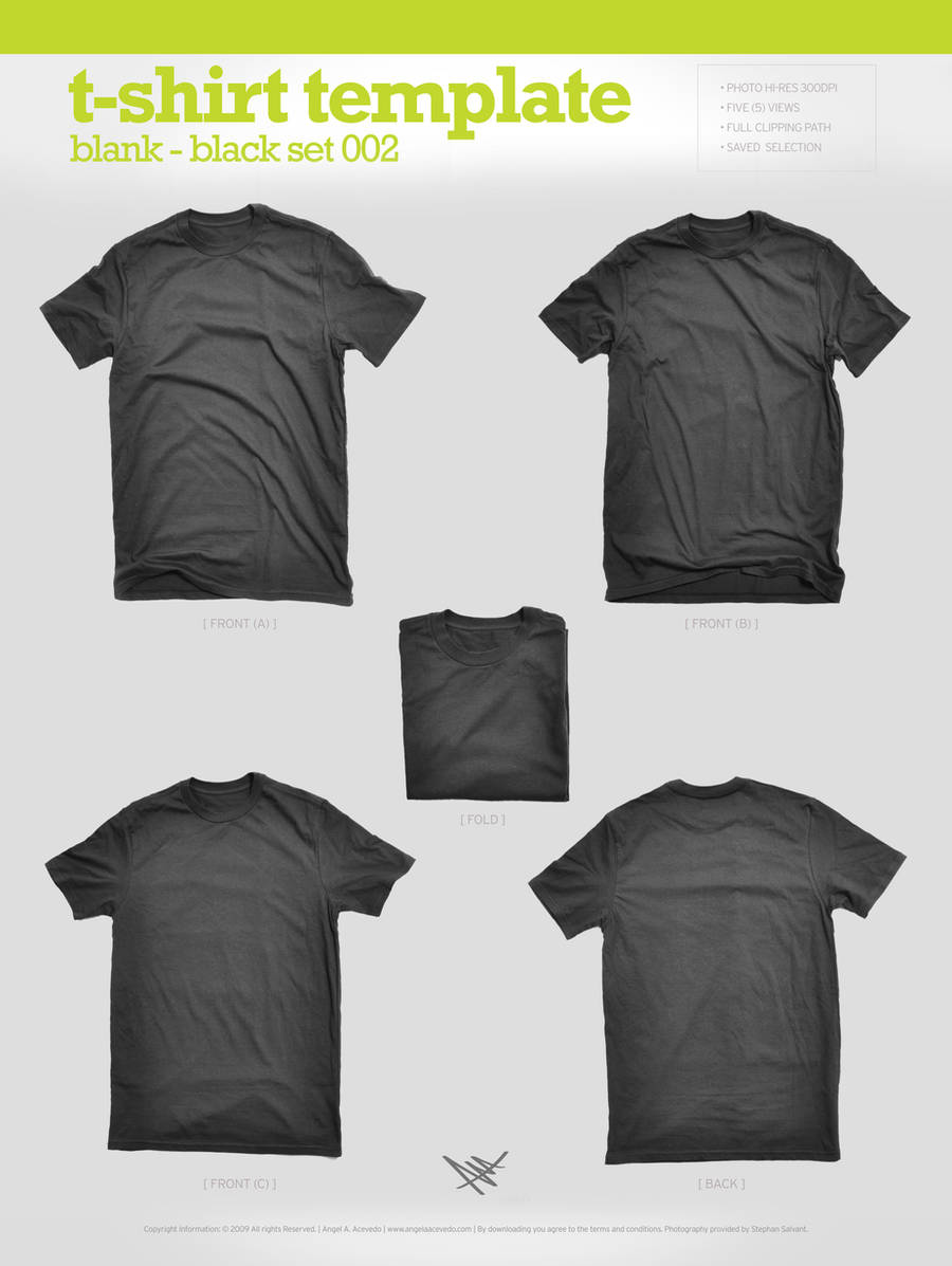 Blank T-Shirt - Black 002 by angelaacevedo