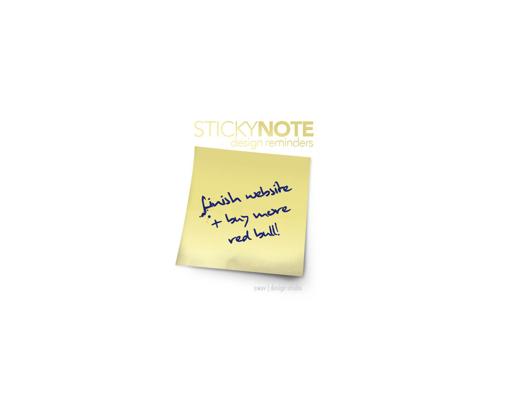 Designdiddy: Sticky Note by angelaacevedo
