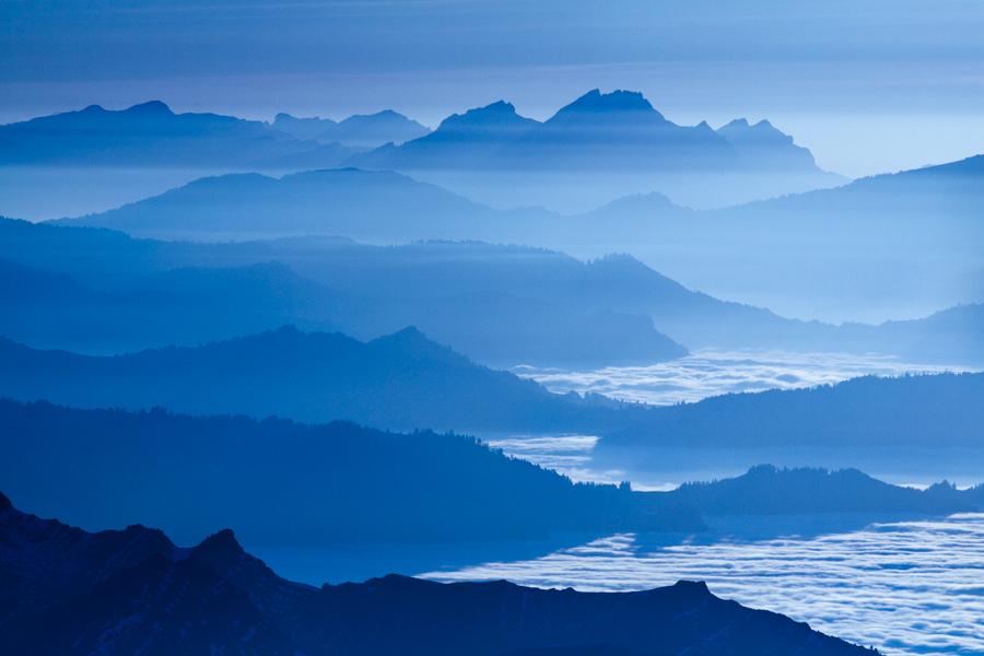 Blue Alps III by Addran