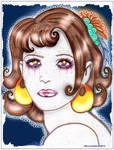Hazel the Roman Pantomime artist