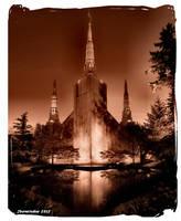 LDS Portland Temple by Jburnstudios