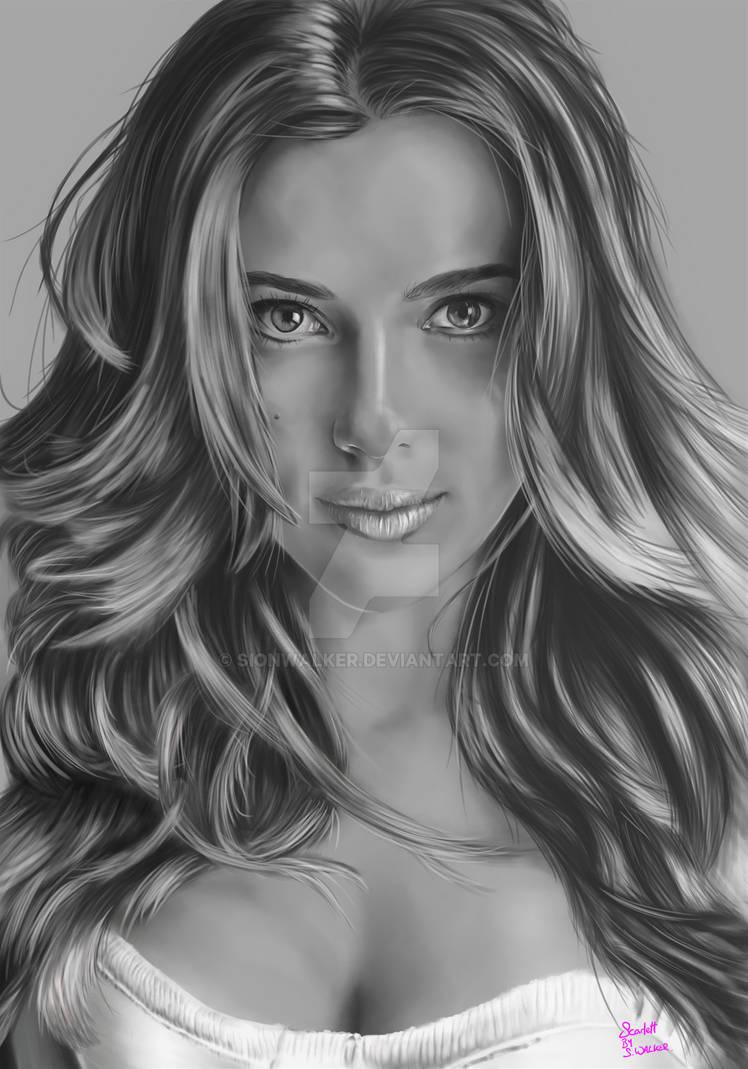 Scarlett Johansson Portrait By Sionwalker On Deviantart
