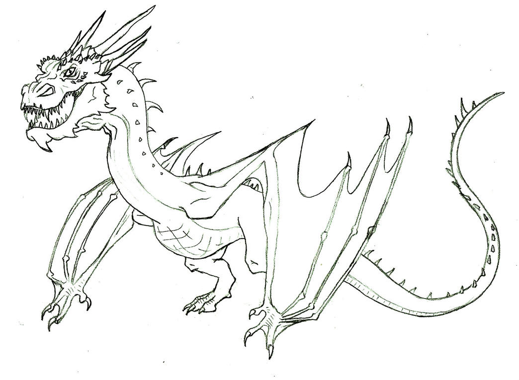 smaug lineart by alexaanime1 on deviantart