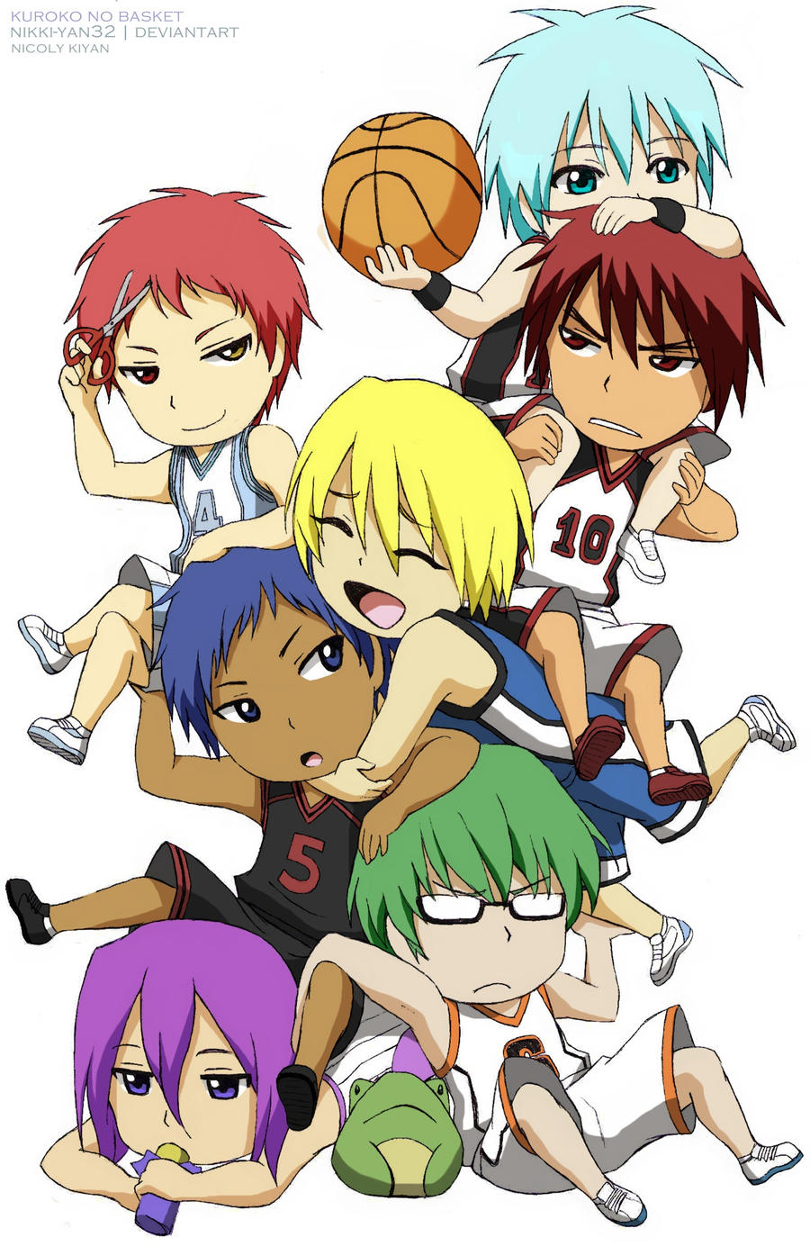 Kuroko no Basket - Chibi by nikki-yan32