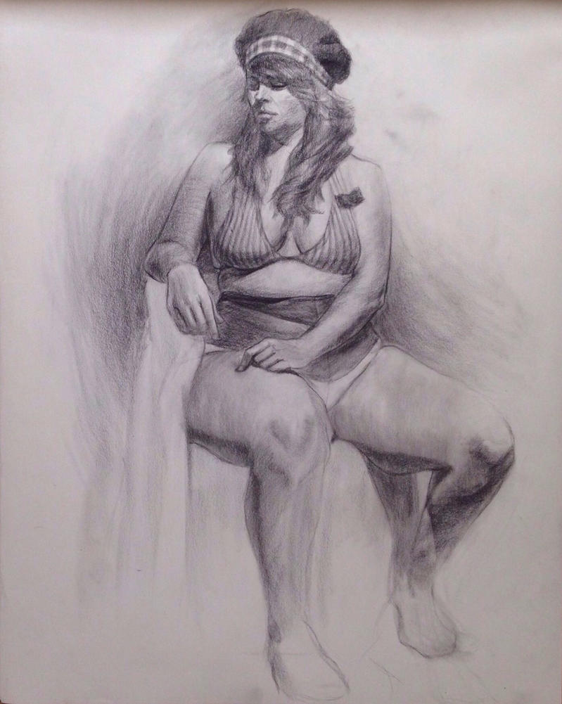 Costumed Figure Drawing from life by croneboi