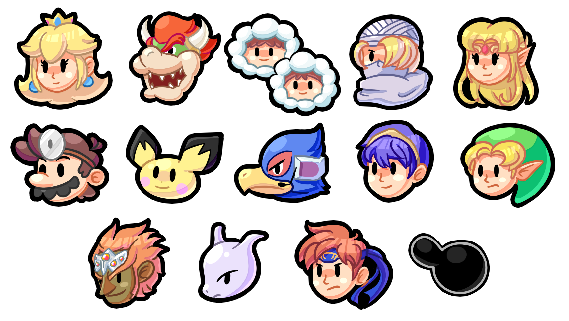 Super Smash Bros Icons Melee Gang By Shykitty20 On Deviantart