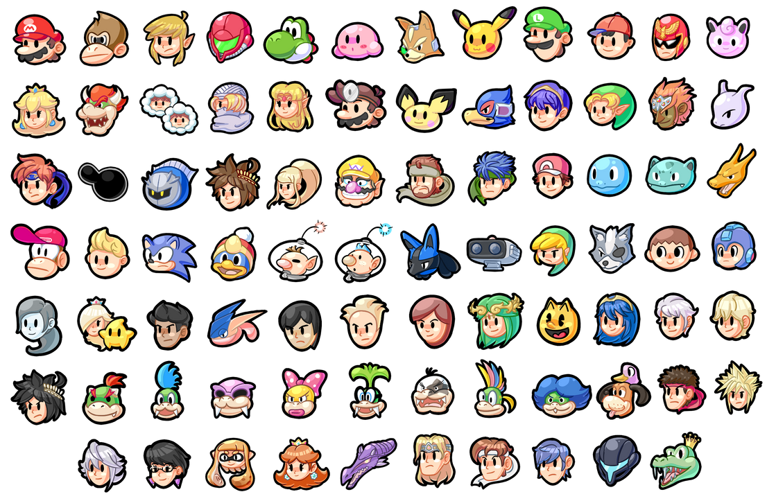 Super Smash Bros Icons By Shykitty20 On Deviantart