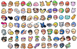 Super Smash Bros icons