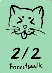 2/2 Green Cat forestwalk by IzaCor