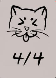 4/4 Black Cat by IzaCor