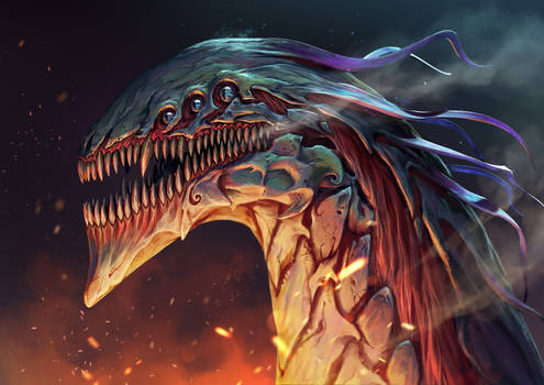 ZBrush Monster Head Illustration