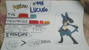 Fun Art: Lucario (Pokedex Art) by jeaglej