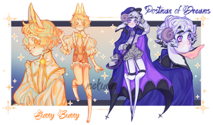Bunny and Postman | adopt auction #31 [CLOSED]