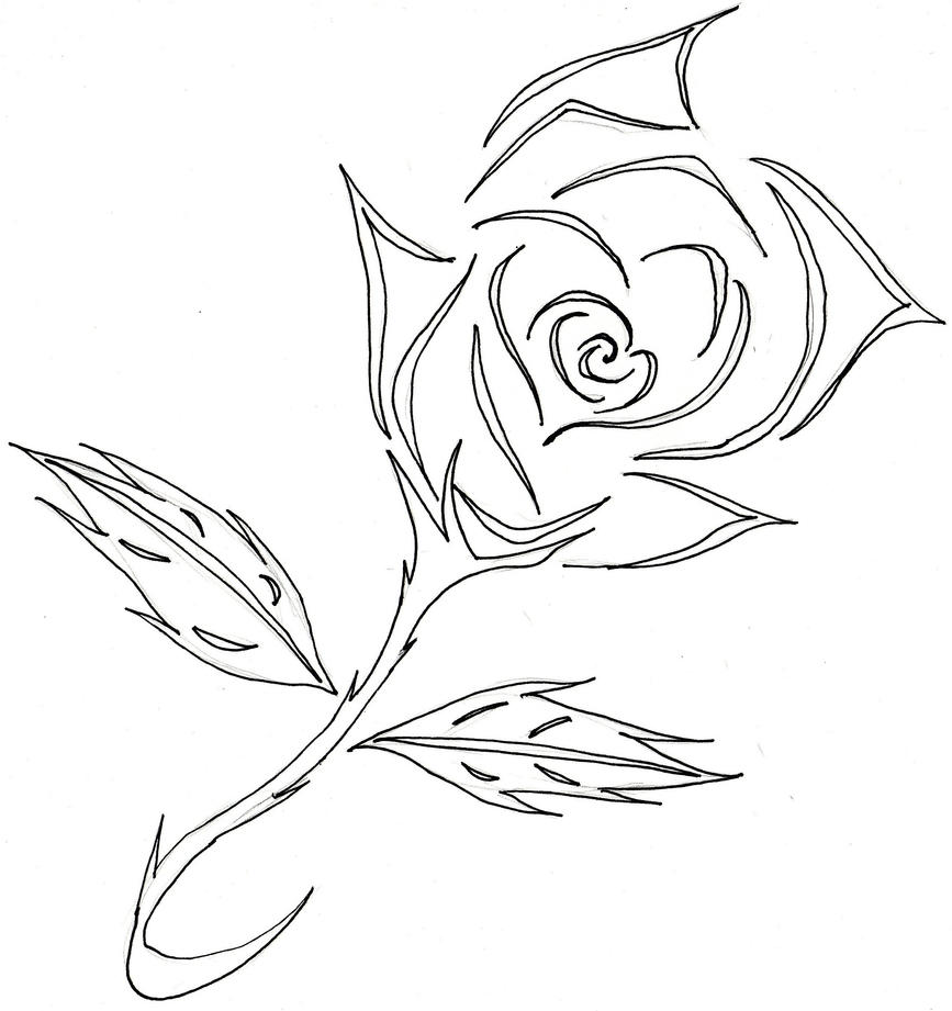 Rose Line Drawing Tattoo : Rose tattoo lines by neko chiba on deviantart