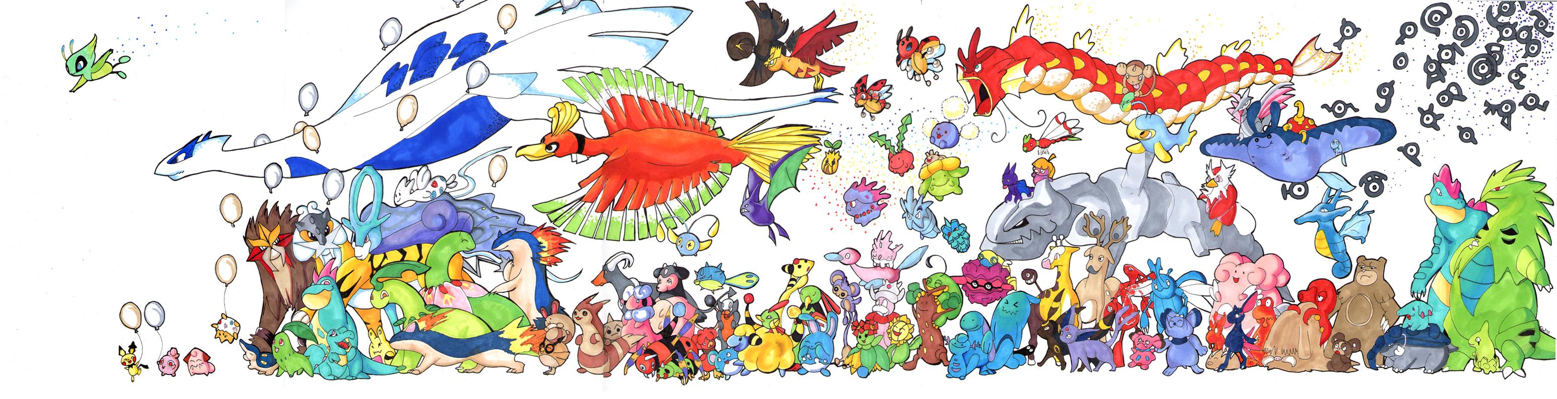 all pokemon in gold