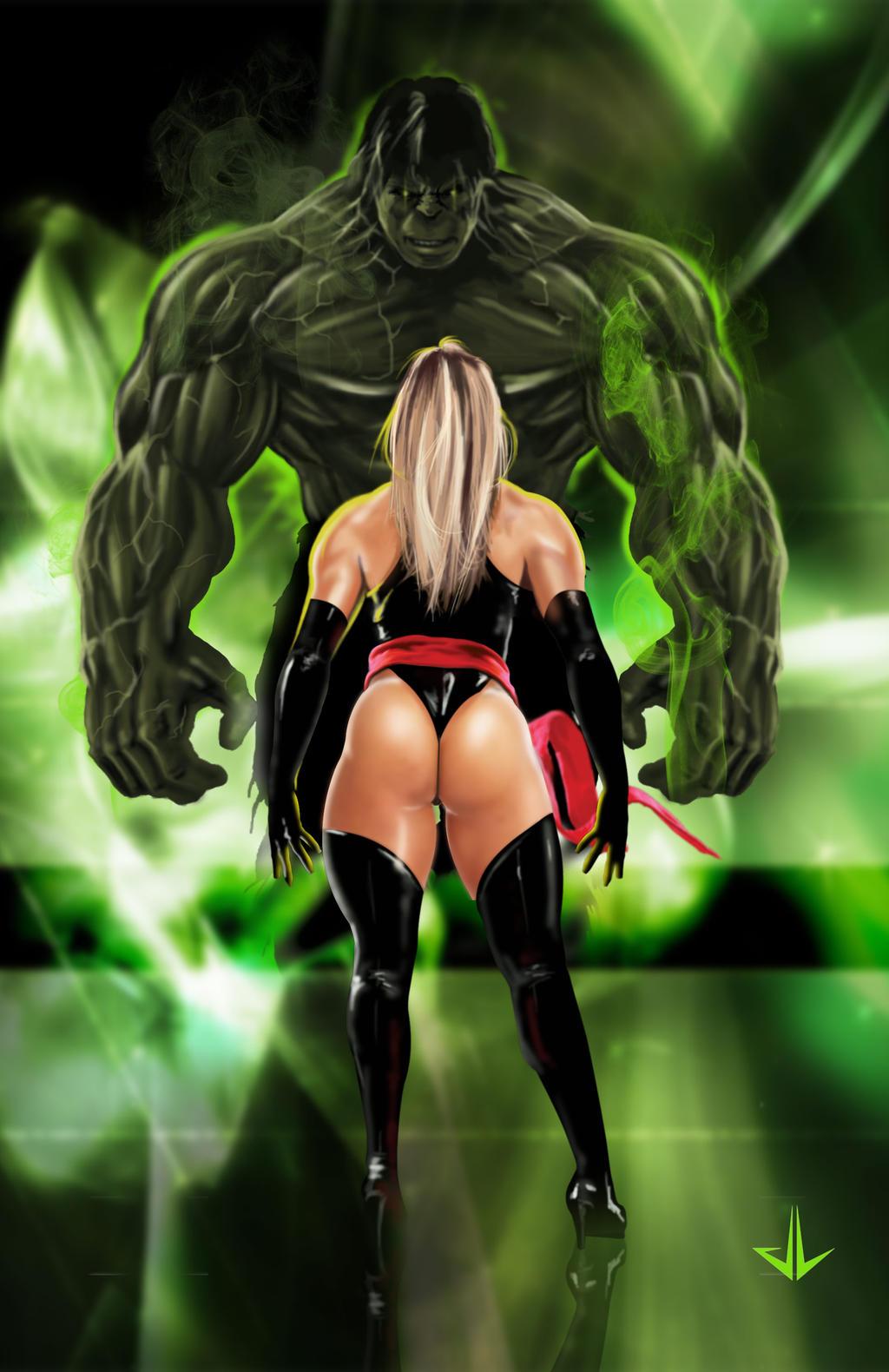 hulk_vs_miss_marvel_by_luisrodri-d6gg4z4