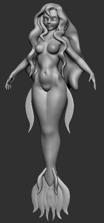 Mermaid WIP1 by Rogent