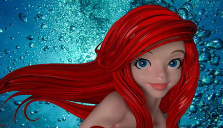 Ariel the eyes and UV WIP by Rogent