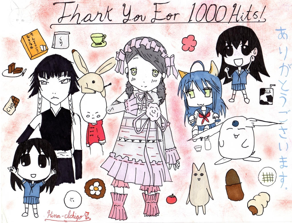 Thank you for 1000 hits by hina-ichigo123
