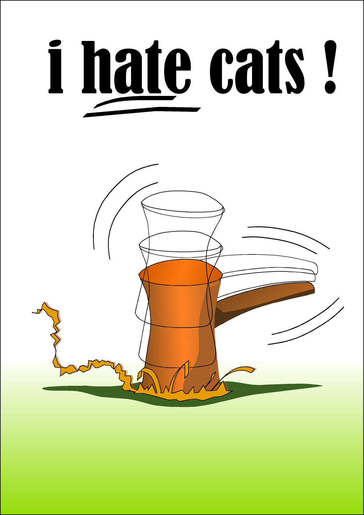 i hate cats by highone on DeviantArt