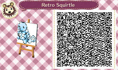 Squirtle Redblue Animal Crossing Qr Code By Thequirkygamer On
