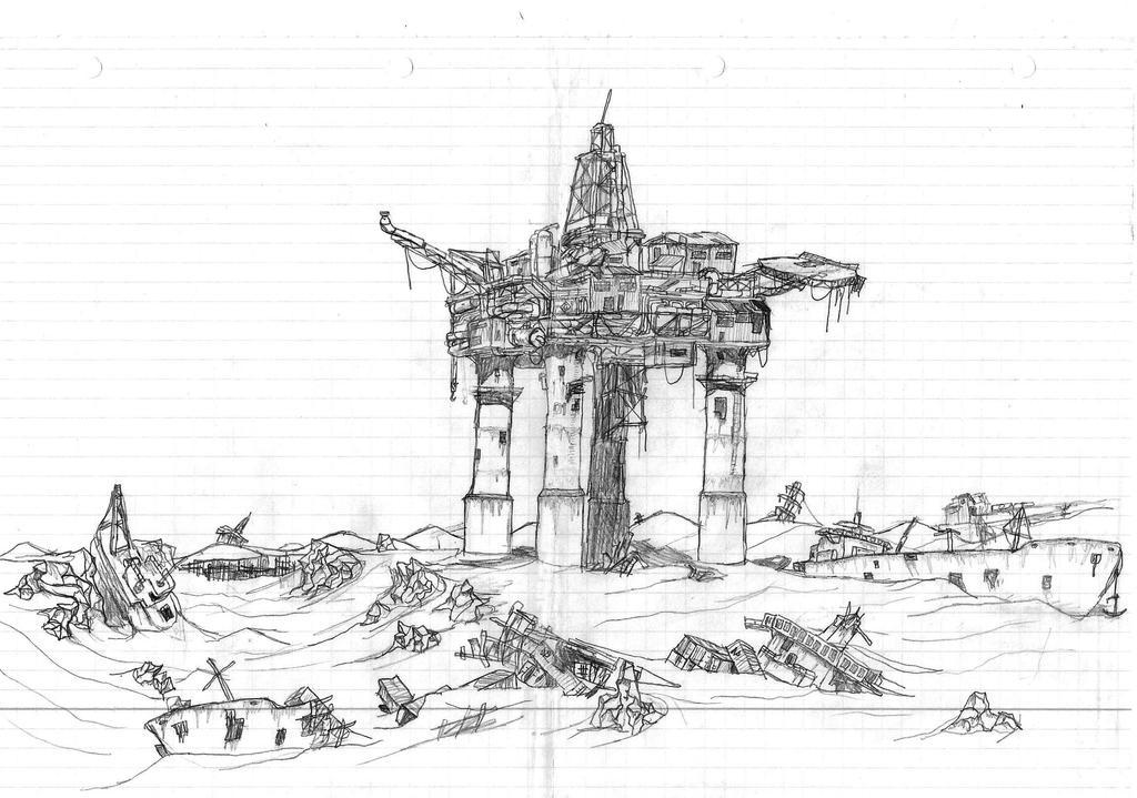 Wasteland Oilrig by AsG-Alligator