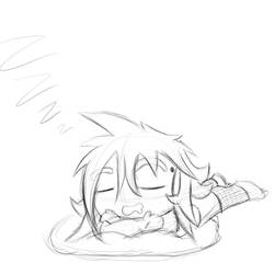 Sleepy Chibi Ifrit by Ifrit-Animations