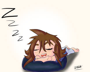 Sleepy Chibi Ifrit Female by Ifrit-Animations