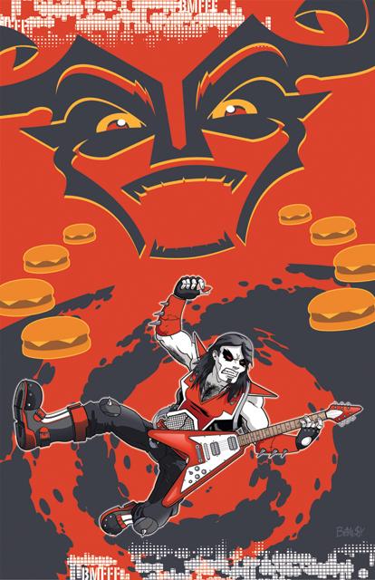 Black Metal Fast Food Fight by ballsybalsman