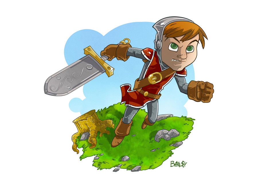 Ben Dale's Little Knight by ballsybalsman