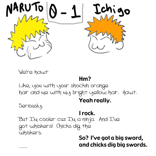 Naruto vs Ichigo by ryuomaru